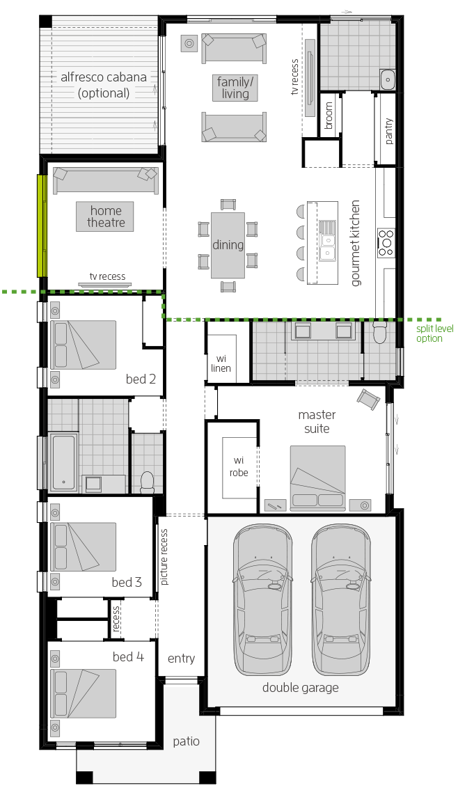Santa Fe One  floorplan lhs