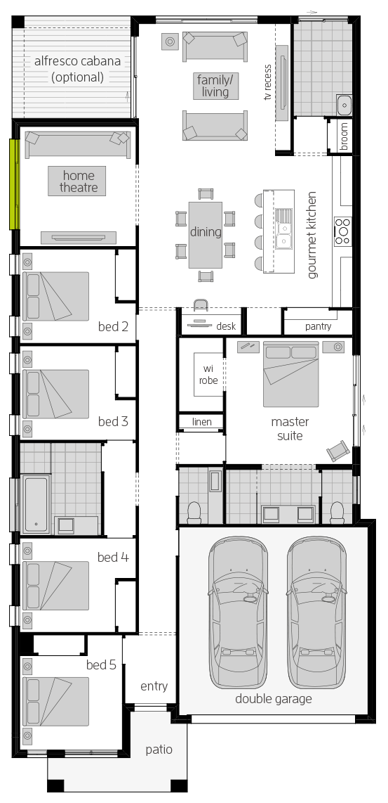 Santa Fe Two floorplan lhs