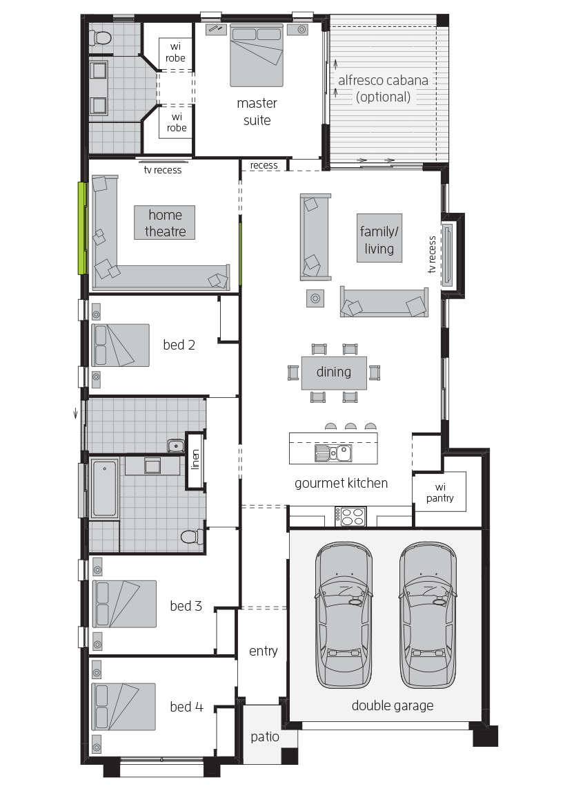 Bordeaux executive floorplan lhs