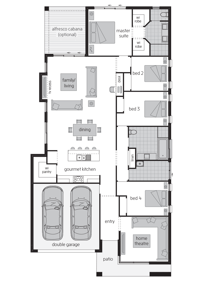 Bordeaux Urban floorplan lhs