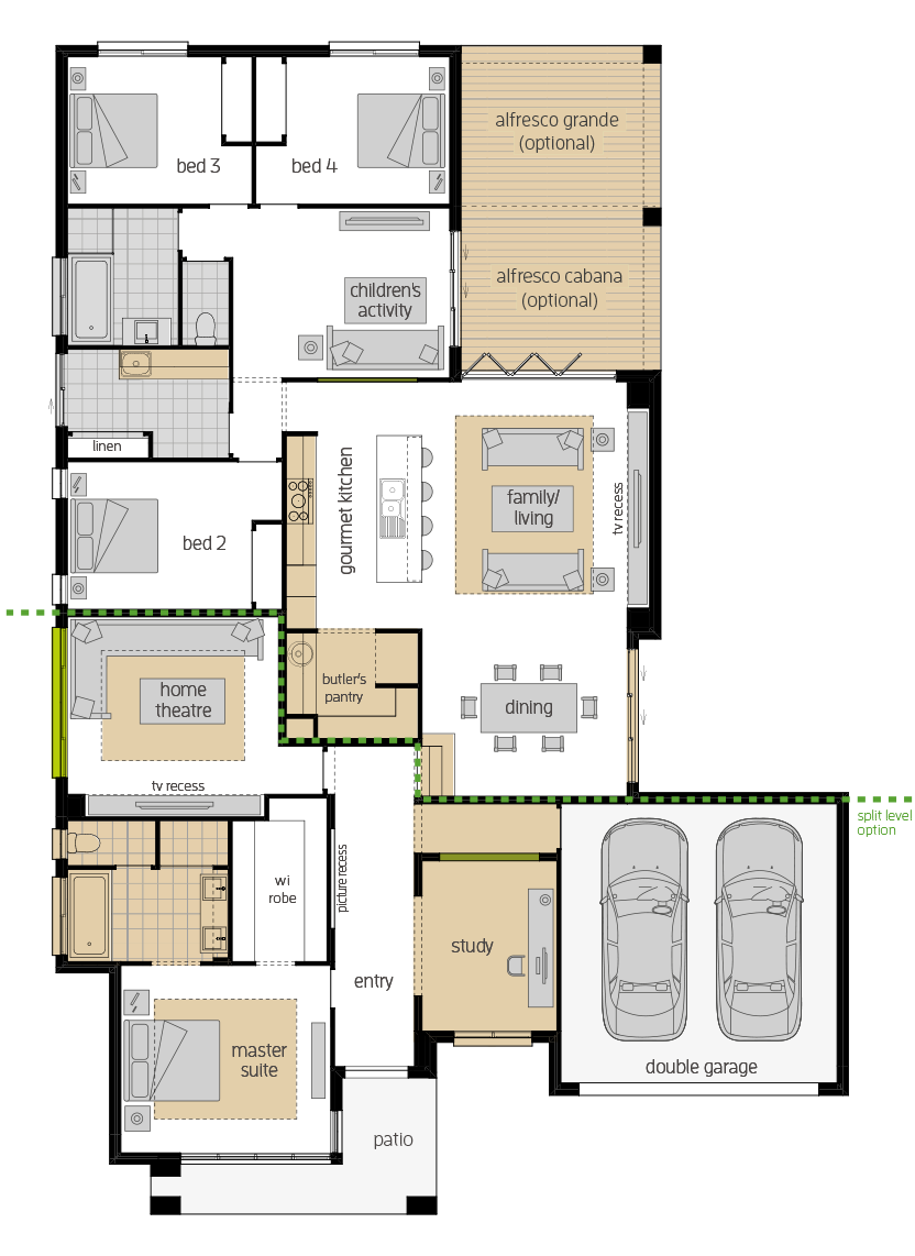 Havana Encore- Single Storey Floor Plan Upgrades- McDonald Jones