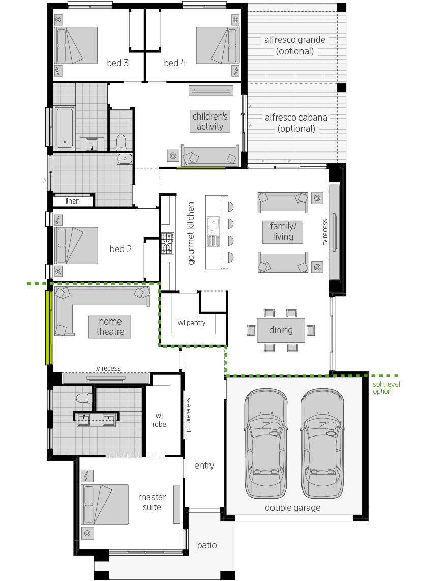 Havana Encore- Single Storey Floor Plan- McDonald Jones