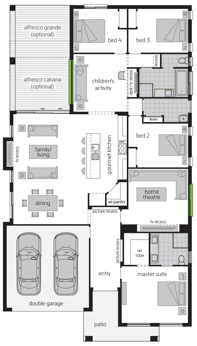 Havana One floorplan lhs