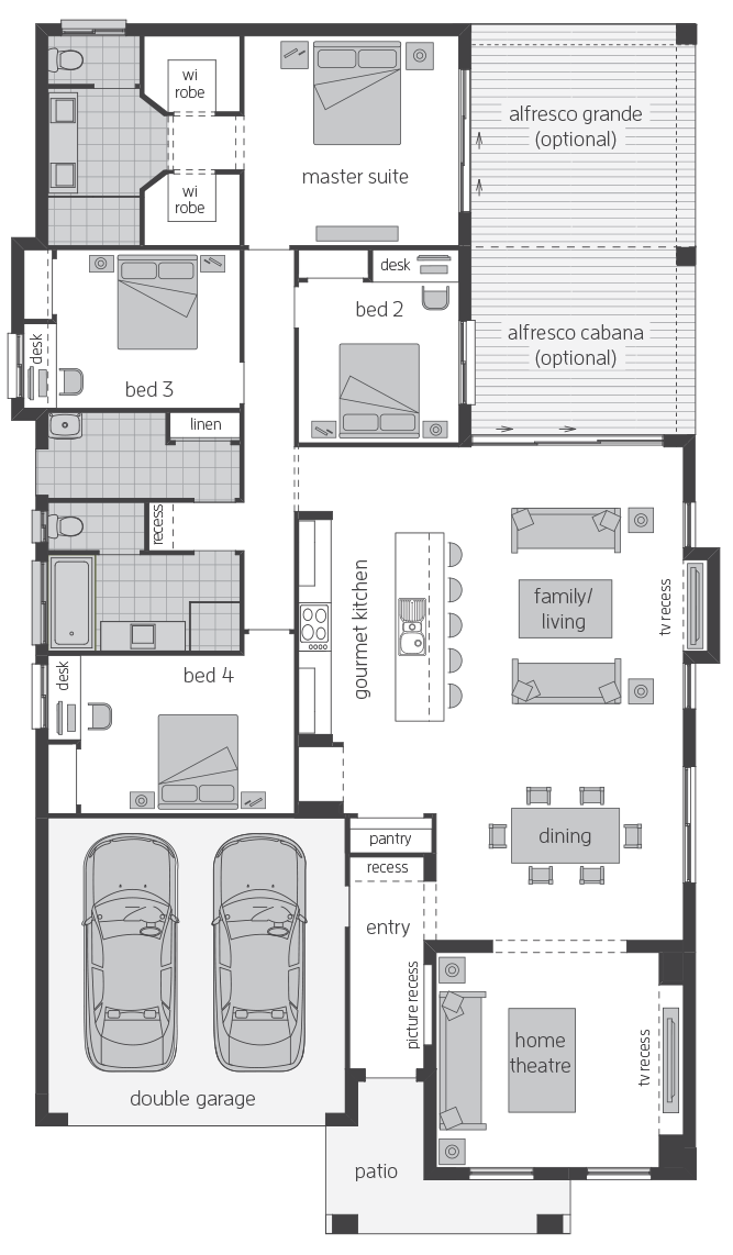 Havana Three floorplan lhs