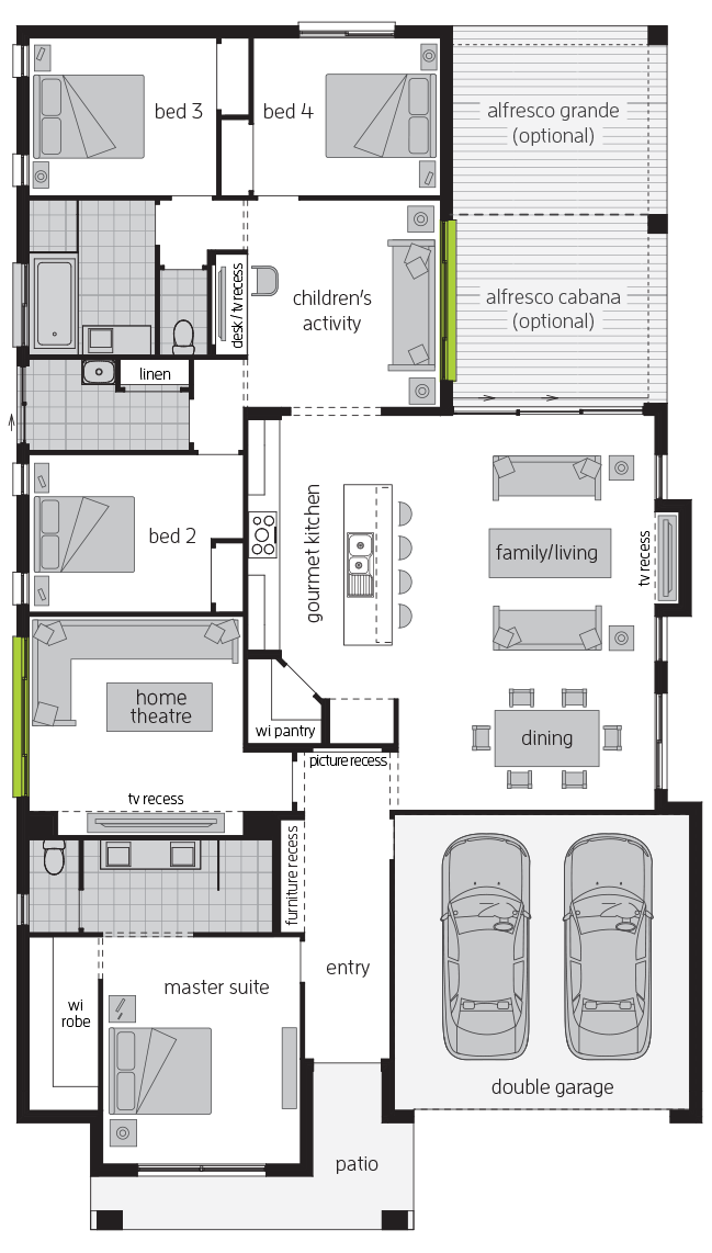 Havana Executive floorplan lhs