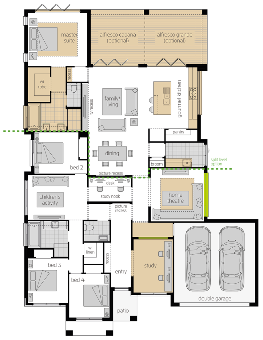 Portifino upgrade floorplan lhs