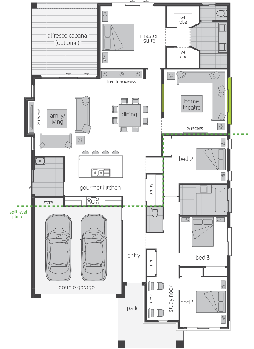 Santorini Executive floorplan lhs