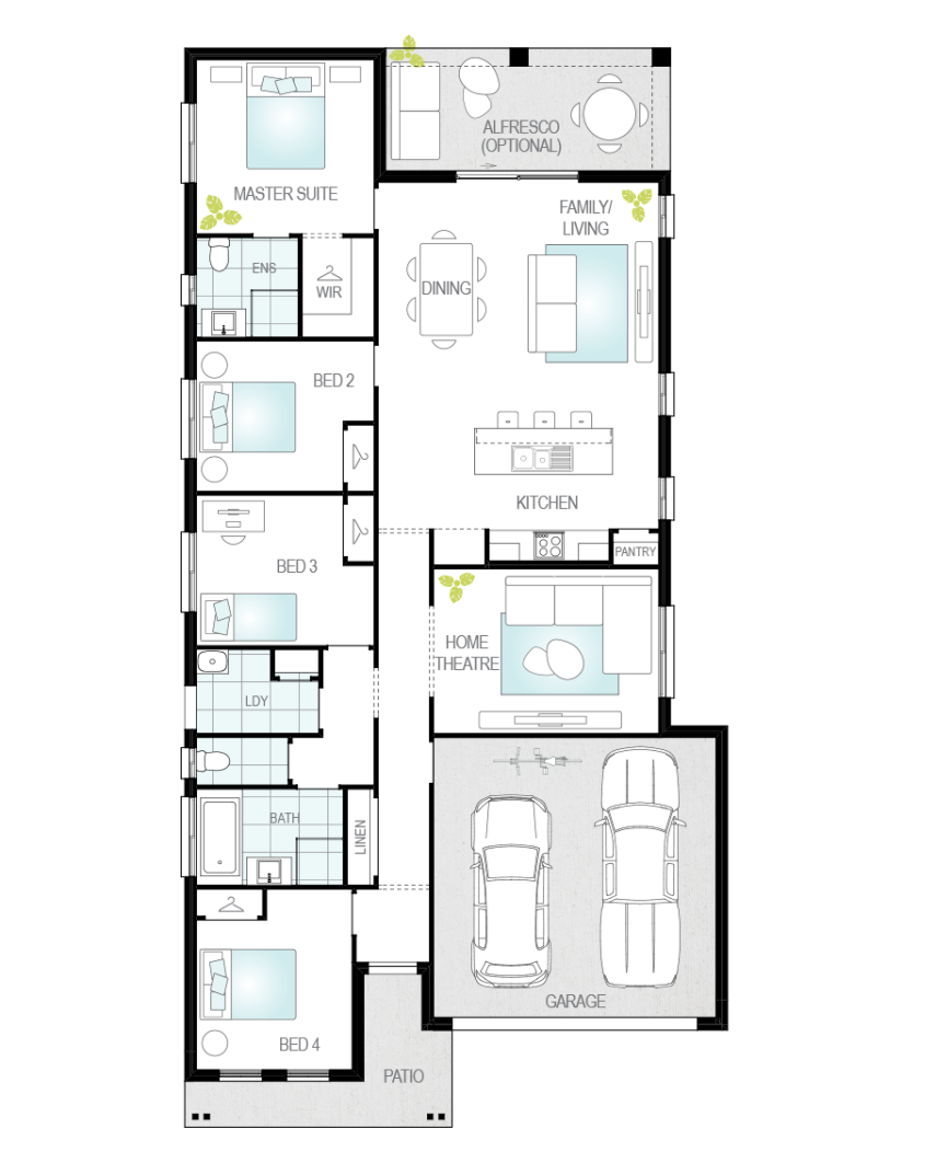 Floor Plan - Andorra Narrow Block Home - McDonald Jones
