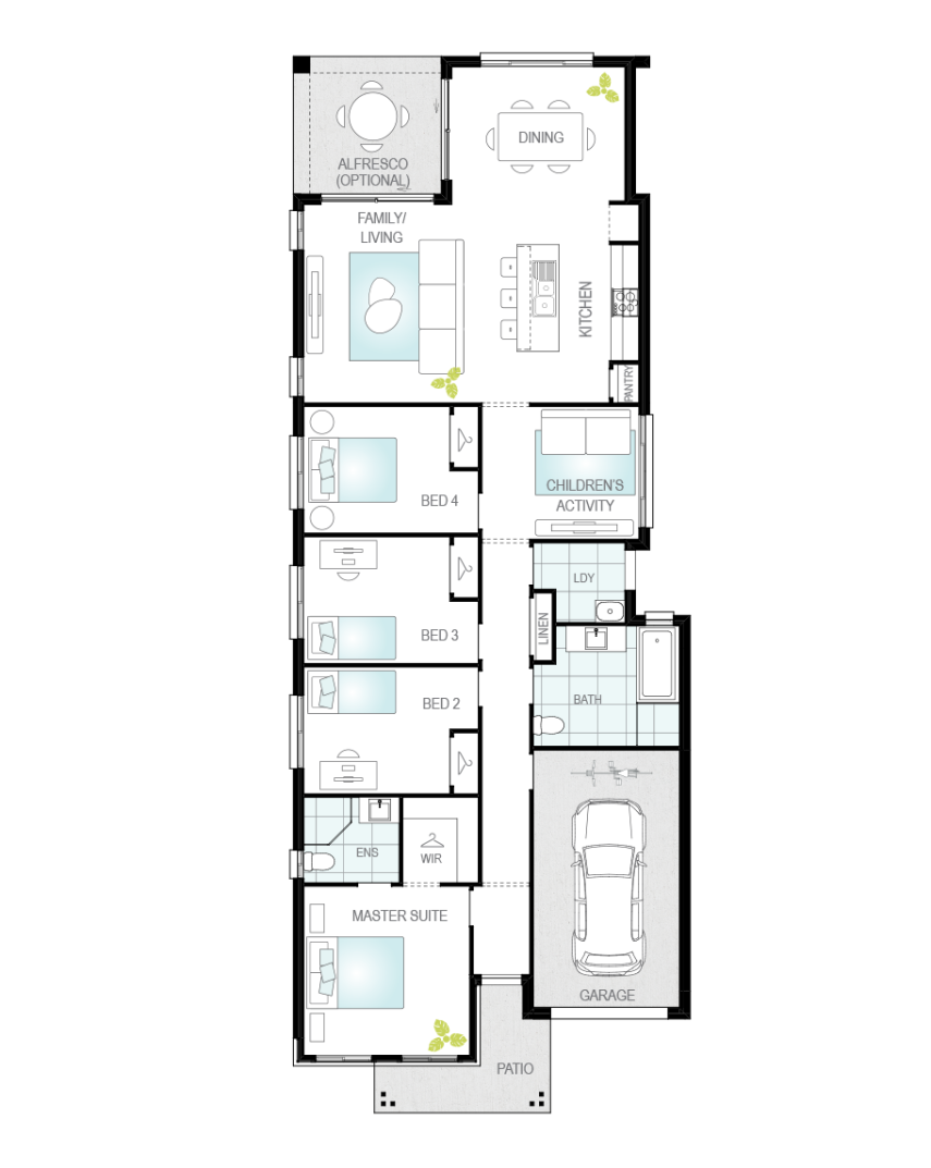 Floor Plan - Camelle One - Affordable Home Design - McDonald Jones