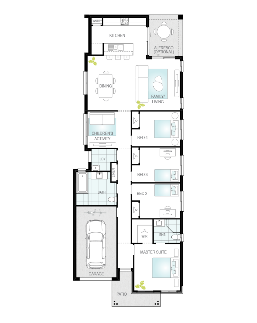 Floor Plan - Camelle Two - Affordable Home Design - McDonald Jones