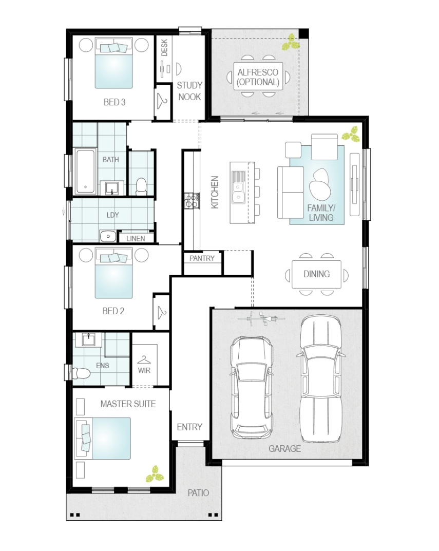 Floor Plan - Mondello - Single Storey Home - McDonald Jones