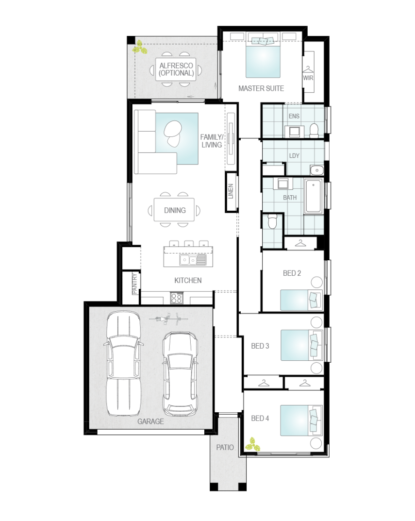 Floor Plan - Peniche - Single Storey Home - McDonald Jones