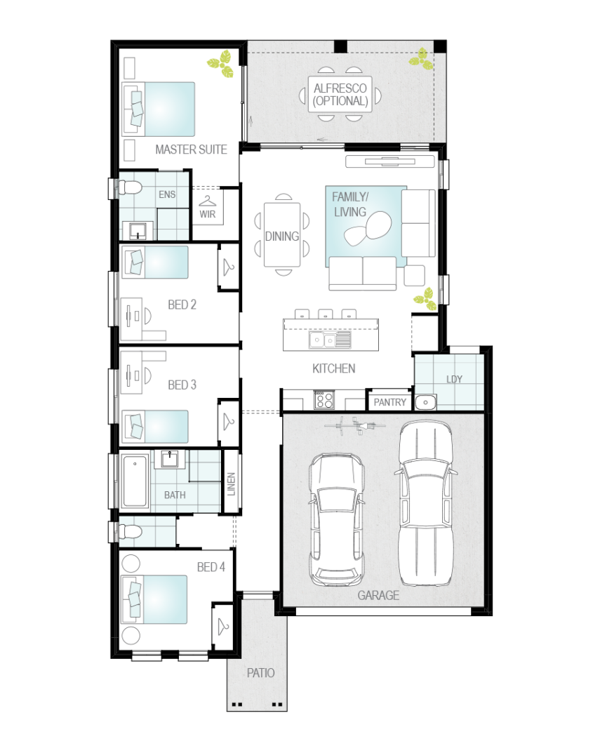 Floor Plan - Porto - Single Storey Home - McDonald Jones