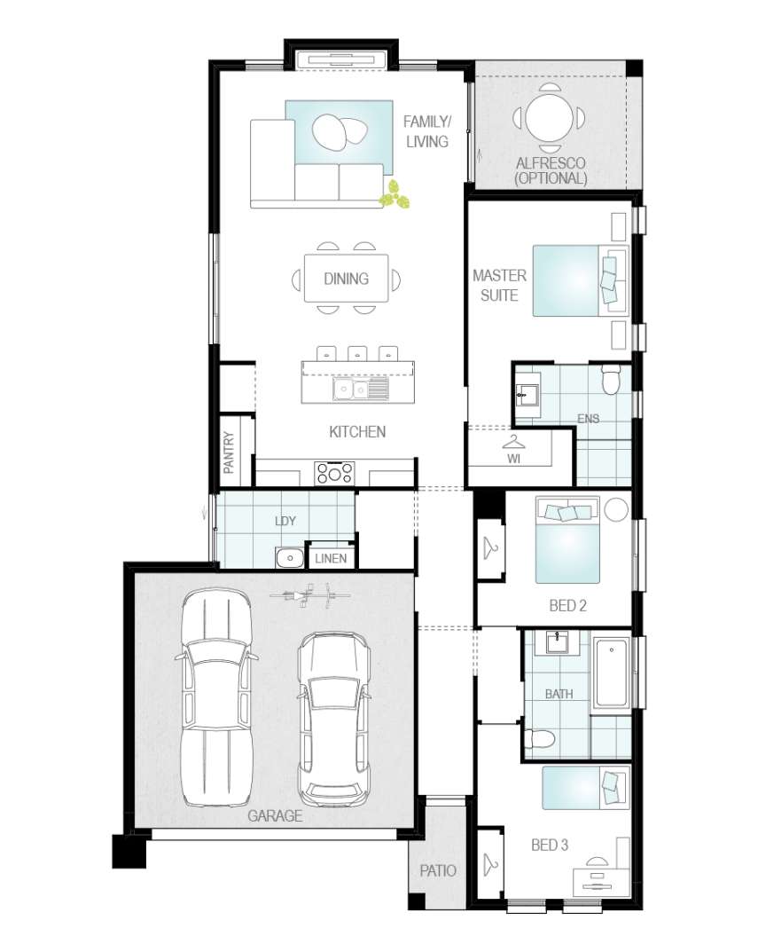 Floor Plan - Vantage Home Design - Now Series - McDonald Jones