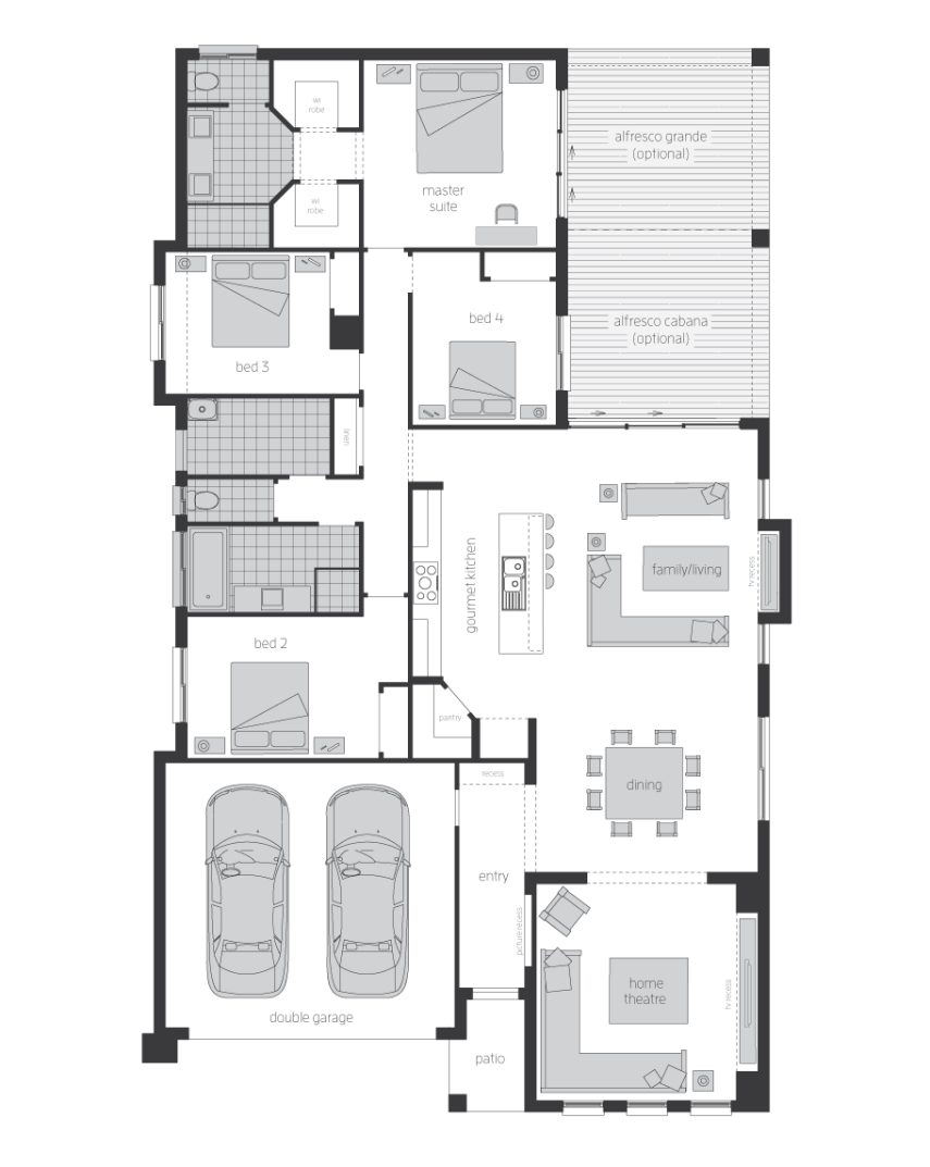 Floor Plan - Lindeman - Home Designs Canberra - McDonald Jones