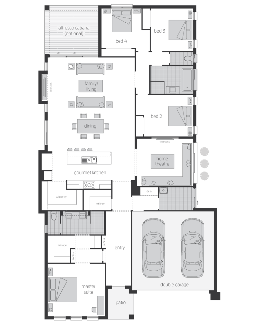 Floor Plan - Sandalford - Home Designs Canberra - McDonald Jones