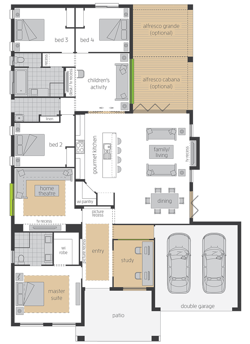 Havana One upgrade floorplan lhs