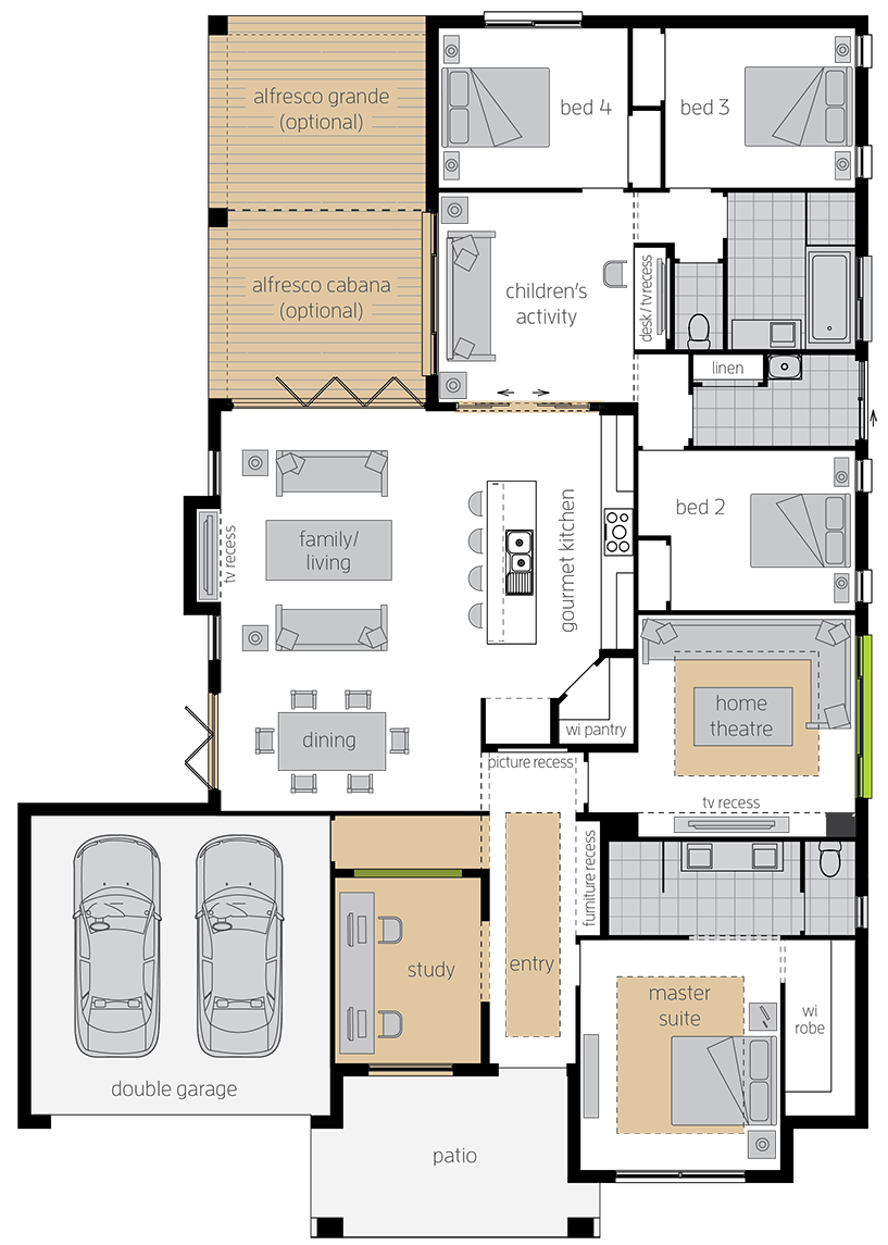 Havana Executive upgrade floorplan lhs