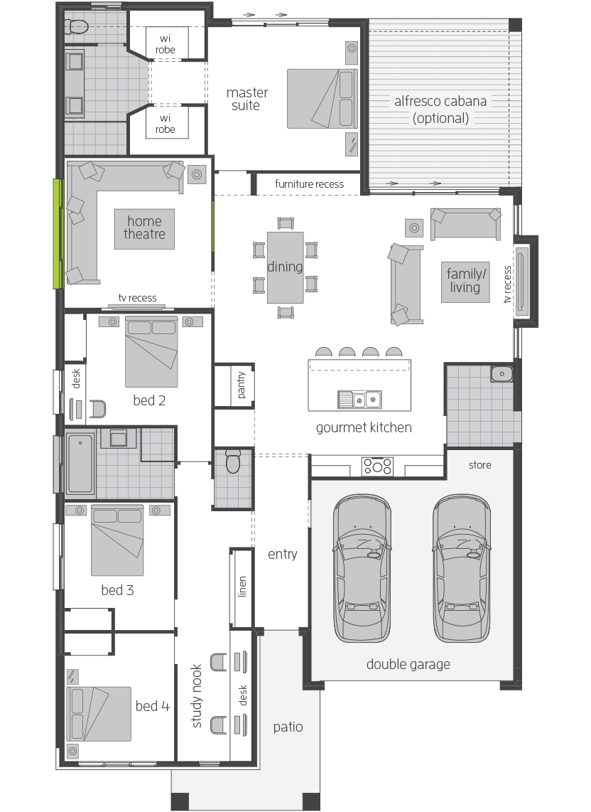 Santorini Manor floorplan lhs