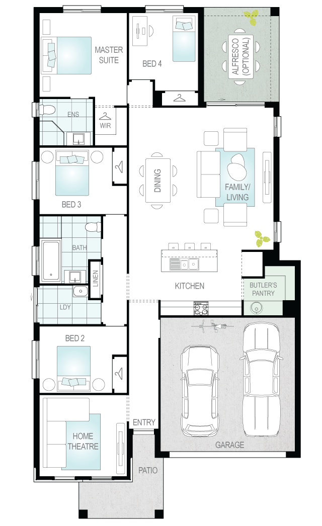 Lucia Two- Single Storey Floor Plan Upgrade- McDonald Jones