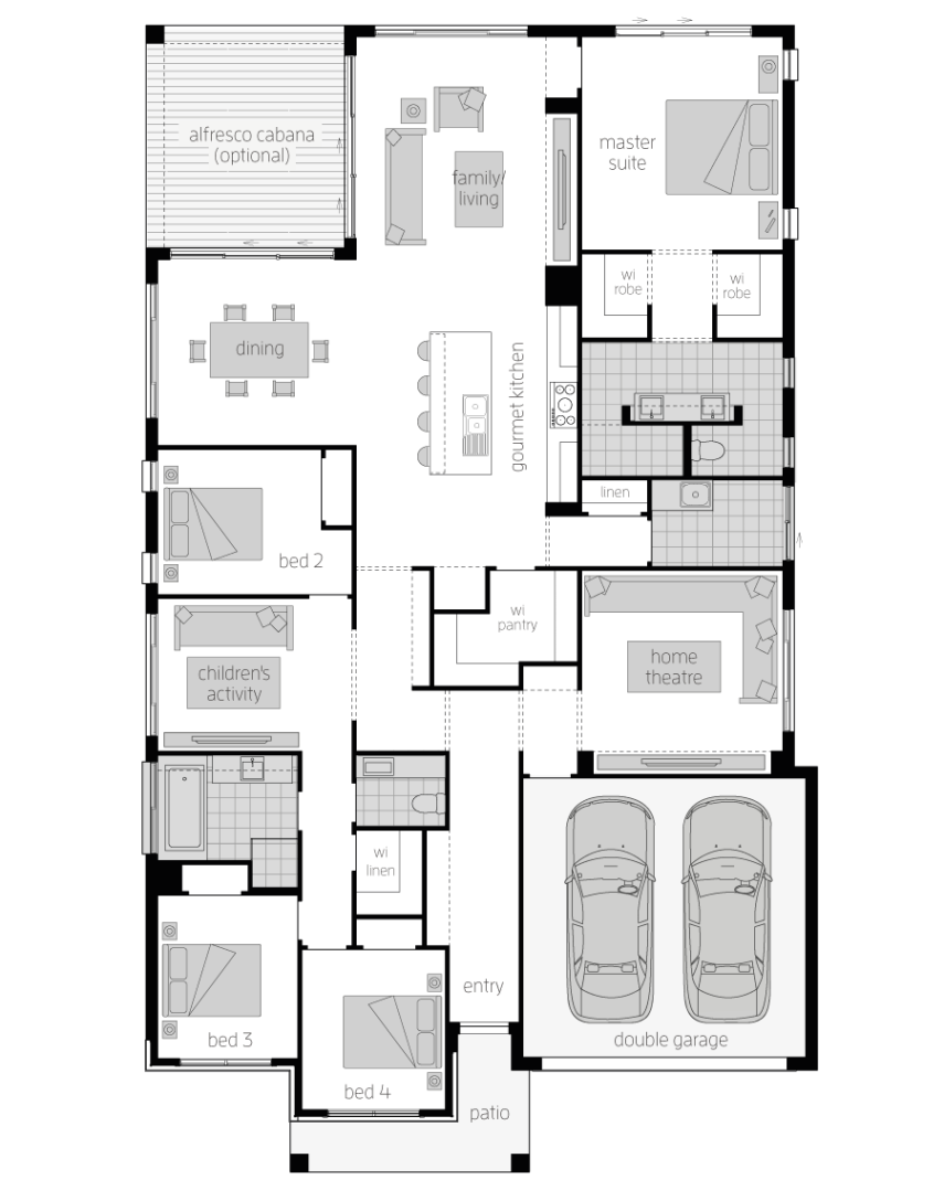 Santa Monica 15 Two- Single Storey Floor Plan- McDonald Jones
