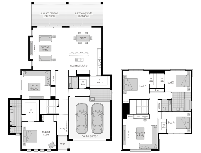 Avondale 38- Two Storey Floor Plan- McDonald Jones