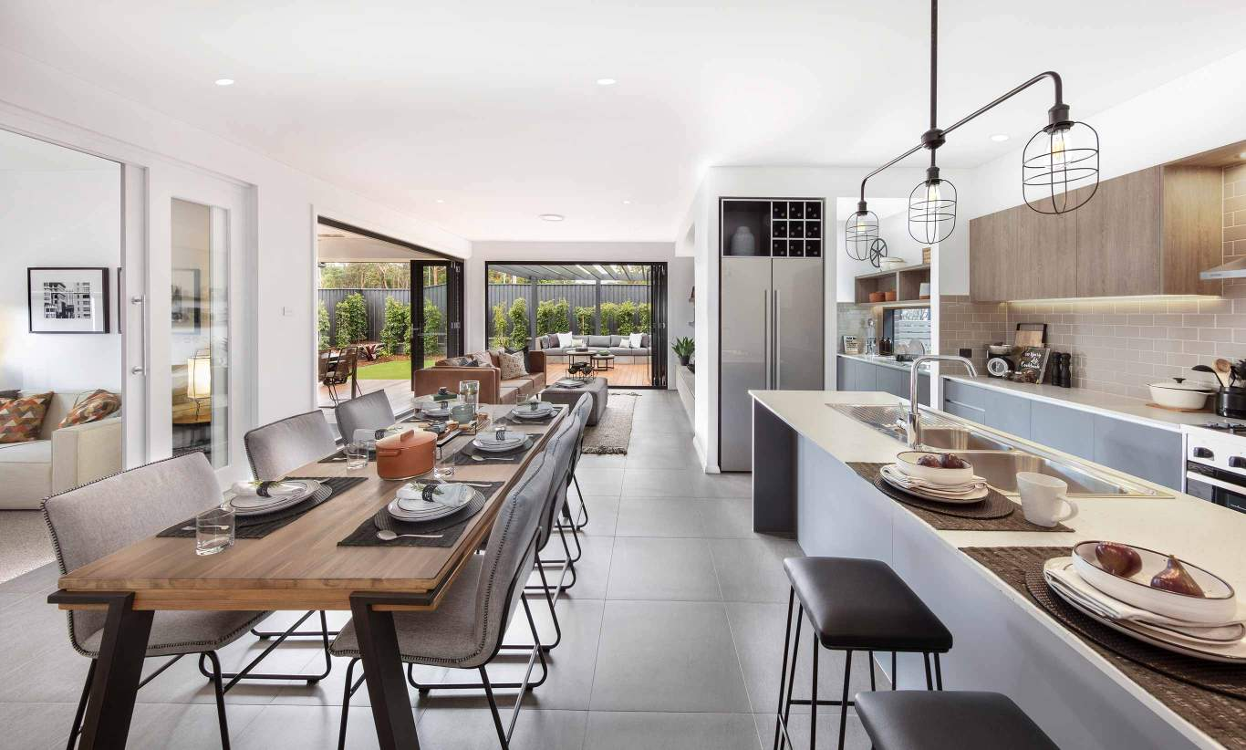 Santa Fe One- Kitchen, Dining, Living and Alfresco