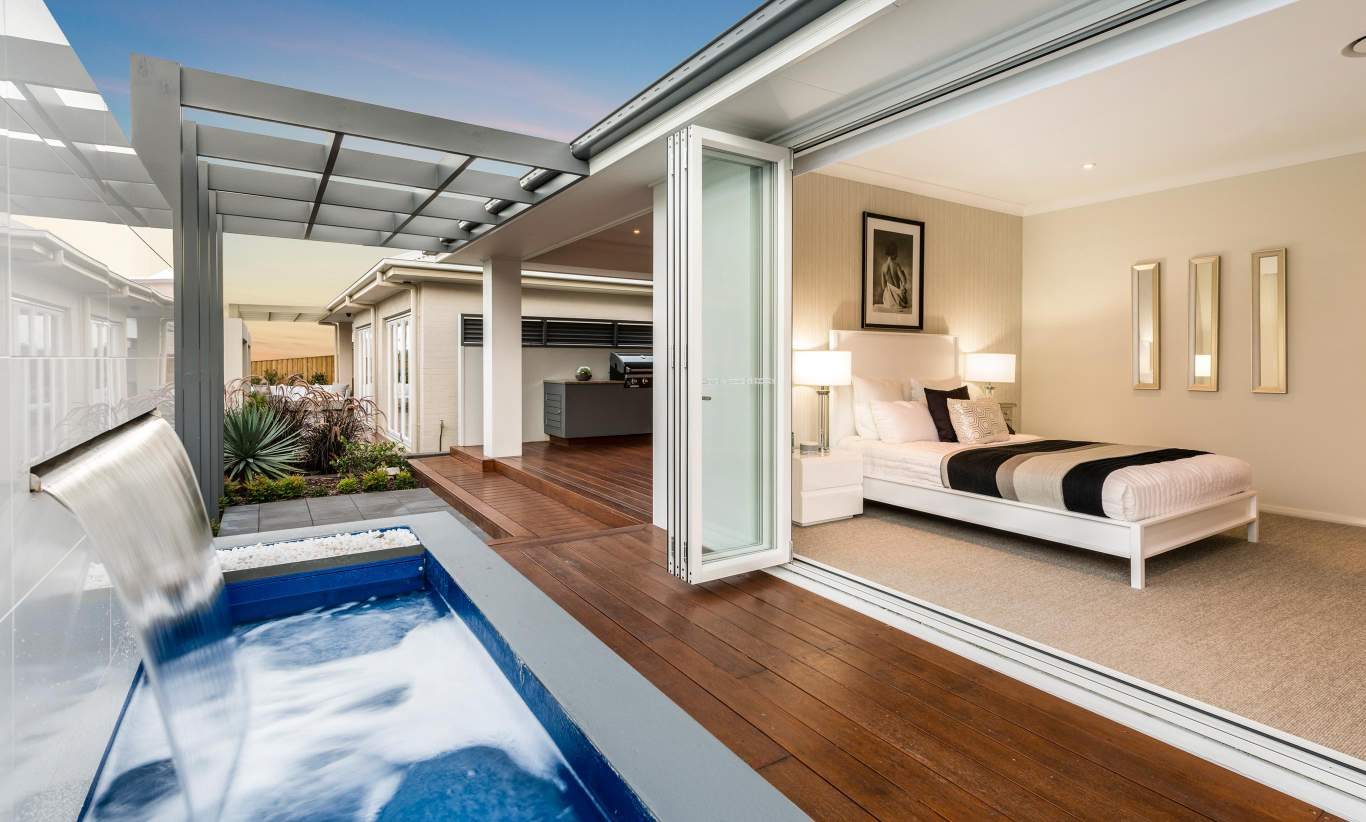 Alfresco & Master Suite, Santorini Display Home, Shell Cove - McDonald Jones