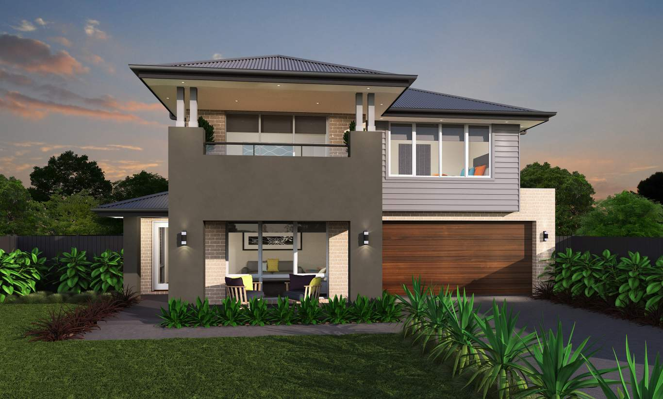 Belmore Facade - Castleton Two Level Home - McDonald Jones