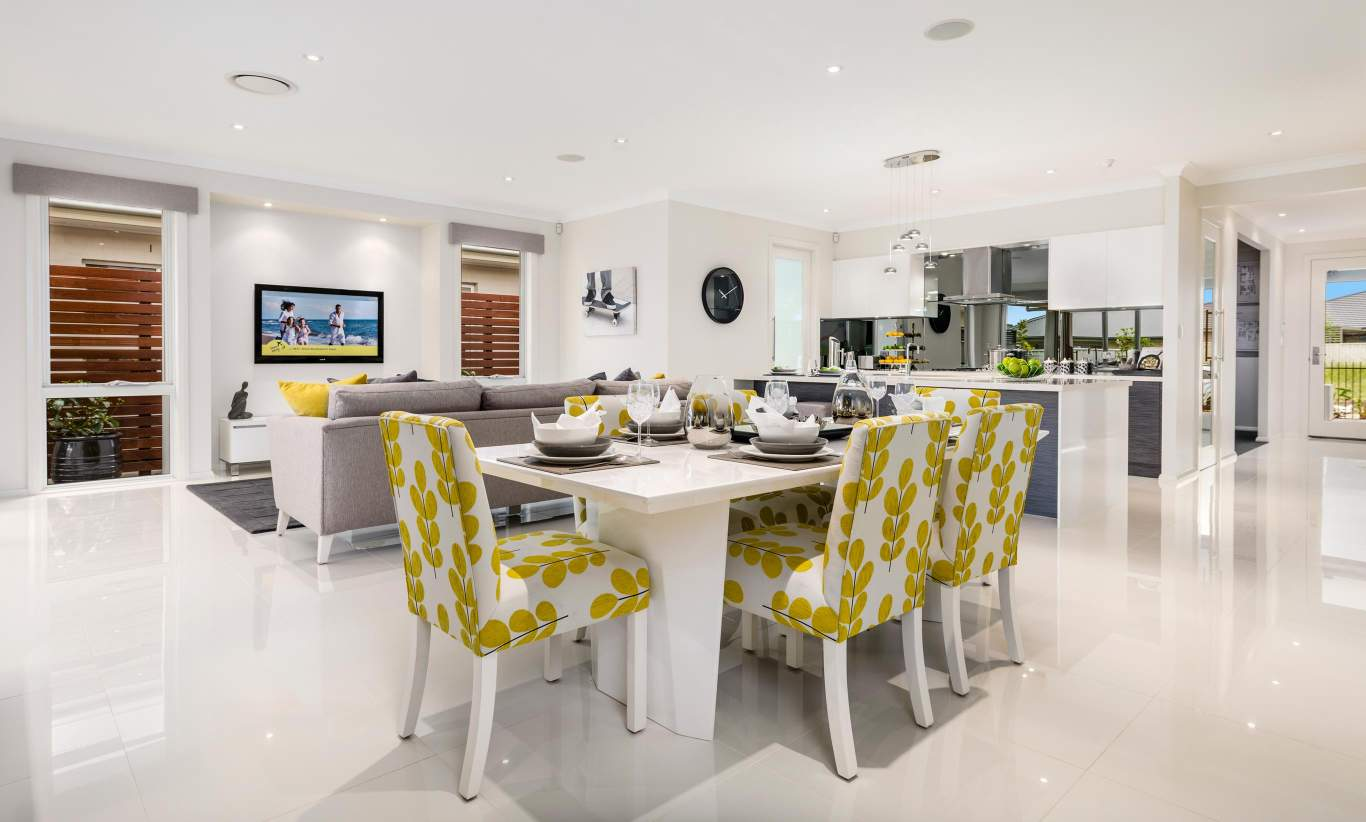 Dining, Living & Kitchen, Santorini Display Home, Shell Cove - McDonald Jones