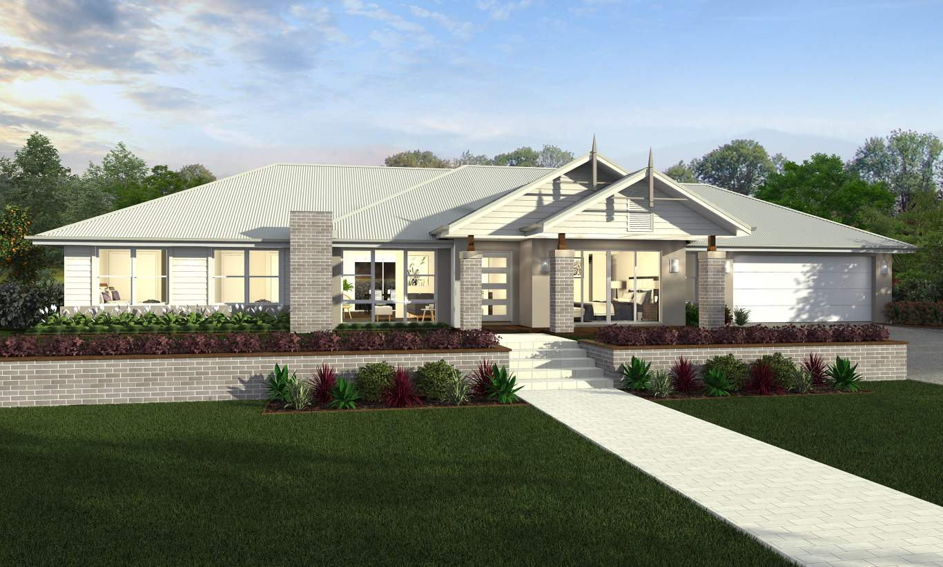 Country Manor Facade - Esperance Acreage Home Design - McDonald Jones