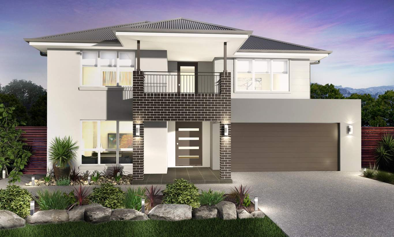 Traditional Facade - Huntingdale Two Storey Home - McDonald Jones
