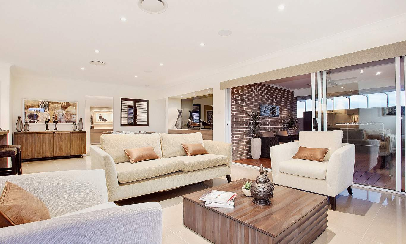 Living, Alfresco - Santorini Display Home - Woongarah - McDonald Jones