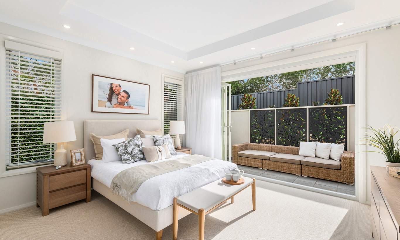 Master Bedroom - Miami Display, Homeworld Leppington - McDonald Jones