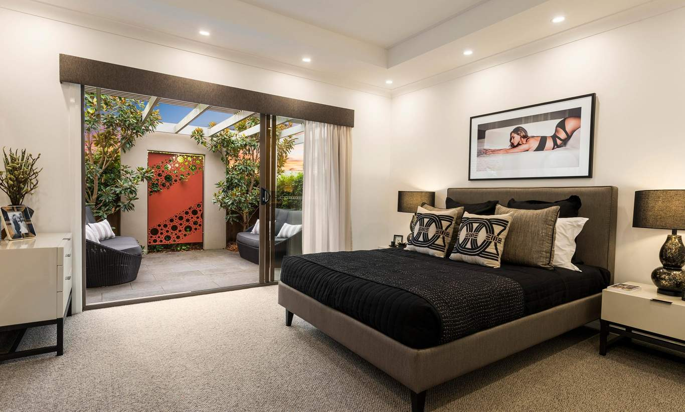 Master Bedroom, Santorini Display Home, Homeworld 5, Kellyville - McDonald Jones