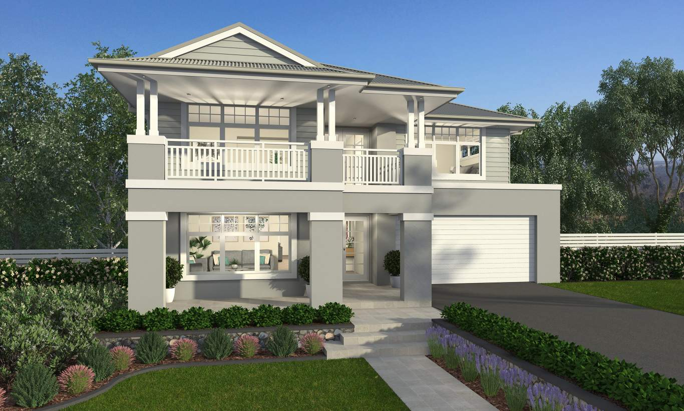 Hampton Home Design Ideas: Contemporary Two Storey Home