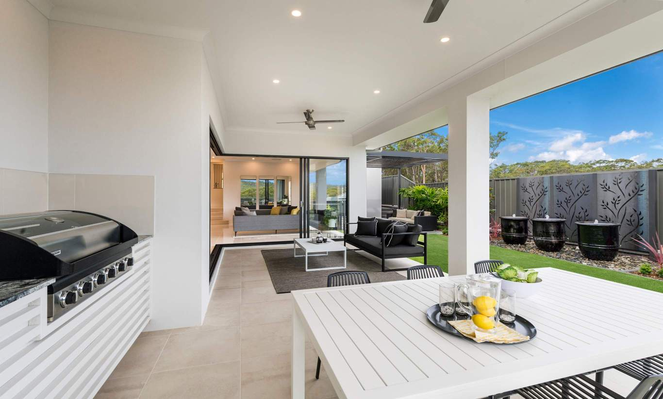 Alfresco - Seaview Display Home at Billy's Lookout - McDonald Jones
