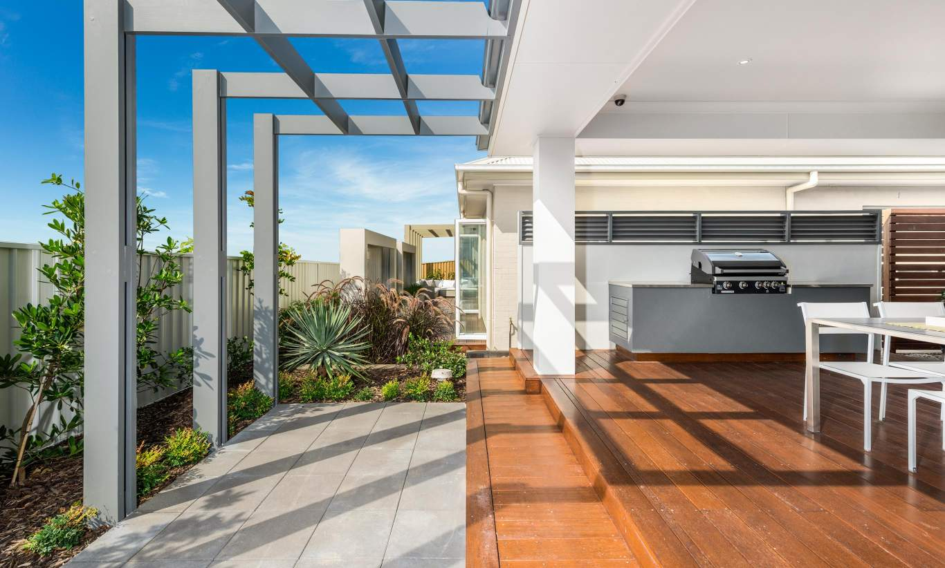 Alfresco, Santorini home design, Shell Cove - McDonald Jones