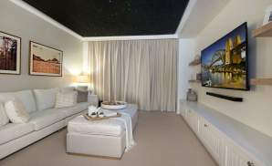 Home Theatre - Seaview Display Home, Calderwood - McDonald Jones