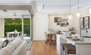 Kitchen, Dining & Living - Seaview Display Home, Calderwood - McDonald Jones