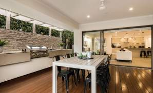 Alfresco & Living area, Santorini Display Home, Homeworld 5, Kellyville - McDonald Jones