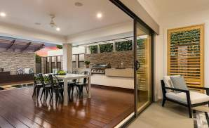 Alfresco area, Santorini Display Home, Homeworld 5, Kellyville - McDonald Jones