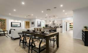 Dining room, Santorini Display Home, Homeworld 5, Kellyville - McDonald Jones