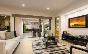 Living & Entertaining area, Santorini Display Home, Homeworld 5, Kellyville - McDonald Jones