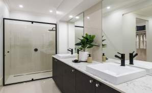 Ensuite - Seaview Display Home at Billy's Lookout - McDonald Jones