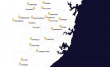 McDonald Jones Sydney Build Area Map