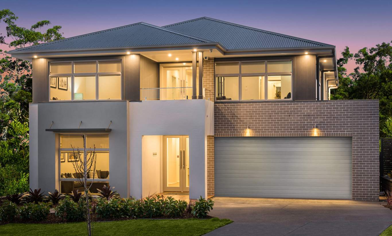 upward sloping block house designs