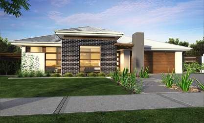 Villa Facade - Ambassador Home Design - Canberra - McDonald Jones