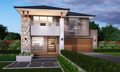 Ashcroft Facade - St Clair Double Level Home Design - McDonald Jones