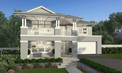 Hampton C Facade - Saxonvale Luxury Double Storey Home - McDonald Jones